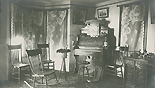 Joshua Elmer's home interior, with organ